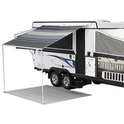 """Picture of Carefree Campout Sierra Brown Vinyl 8' 5""""L X 6' 6""""Ext Adj Pitch Manual Bag Awning 981018A00 00-1006"""