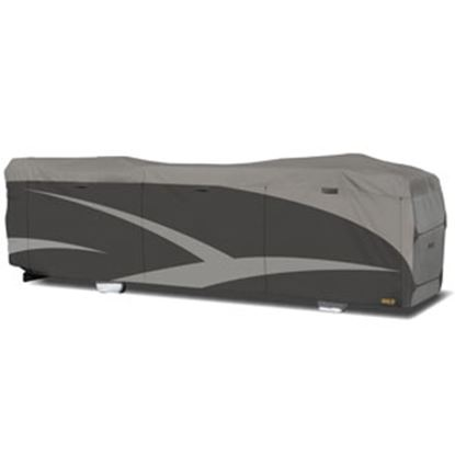 """Picture of ADCO Designer SFS Aquashed (R) Gray Fabric/Poly Cover For 34' 1""""-37' Class A Motorhomes 52206 01-0230"""