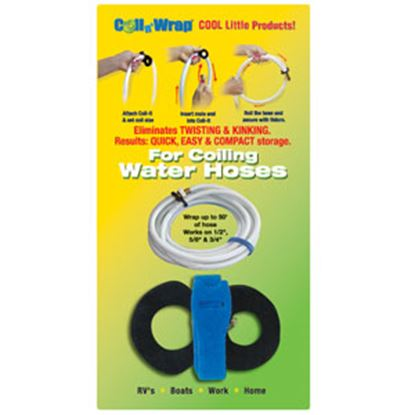 Picture of Coil n' Wrap  Black Fixed Velcro Fresh Water Hose Strap 006-1 03-0504