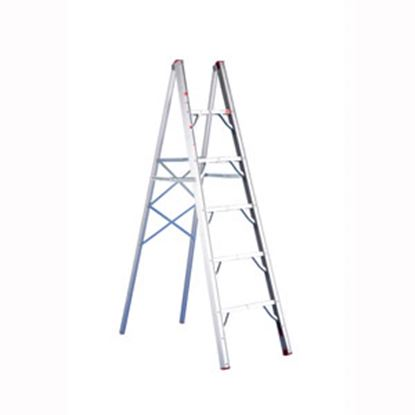 Picture of GP Logistics  6' Clear Anodized Aluminum Folding Step Ladder SLD-S6 03-1010