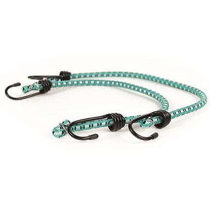 """Picture of Camco  2-Pack 20"""" Green Bungee Cord w/Steel Hooks 51342 03-1475"""