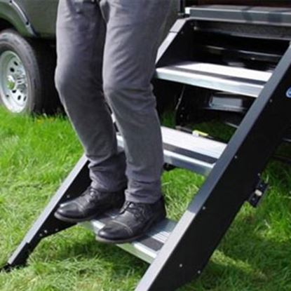 """Picture of MOR/ryde StepAbove (TM) 30"""" W x 30""""-34"""" H Triple Manual Entry Step STP-3-30-03H 04-0342"""