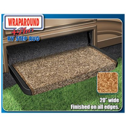 "Picture of Prest-o-Fit Wraparound (R) Plus Brown 20"" Entry Step Rug 2-0071 04-0411"