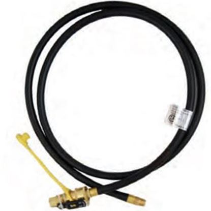 "Picture of Marshall Excelsior  1/4"" MNPT X QD 1/4"" FNPT X 72""L LP Feed Hose MER14TCQD-72P 06-3900"