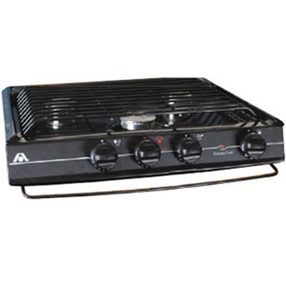 Picture of Dometic  Black 3-Burner Match Light Cooktop 52943 07-0047