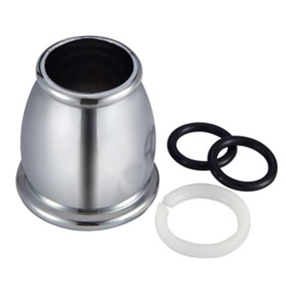 Picture of Dura Faucet  Chrome Bell Style Faucet Spout Nut For Dura DF-PK210 Hi-Rise or DF-PK330 J-S DF-RK500-CP 10-1256