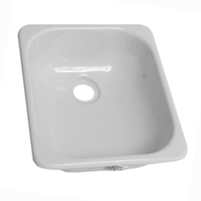 "Picture of Better Bath  12-3/4"" X 15"" Square White ABS Plastic Outdoor Kitchen Sink 209630 10-5708"