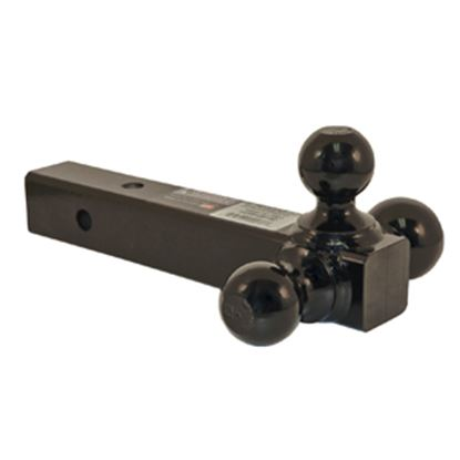 """Picture of B&W Hitches  Class III 2"""" 3.5/7.5K/10K 12""""L Ball Mount w/ Triple Ball BMTT31004 14-0512"""