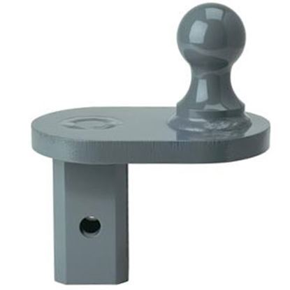 """Picture of B&W Hitches Turnoverball (TM) Steel 20K 2-5/16"""" w/2-1/2 Shank 4"""" Extender Gooseneck Trailer Hitch Ball GNXA4685 14-3056"""