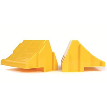 Picture of Camco  2-Pack Yellow Wheel Chock 44401 15-0413