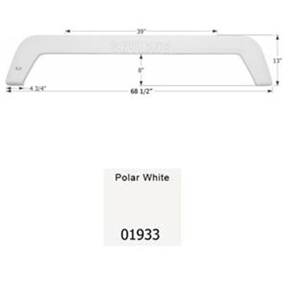 Picture of Icon  Polar White Tandem Axle Fender Skirt For Layton Brands 01933 15-0453