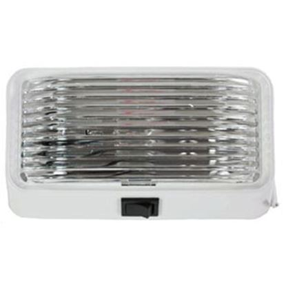Picture of Arcon  White w/Clear Lens Rectangular LED Porch Light w/Switch 20673 18-0860
