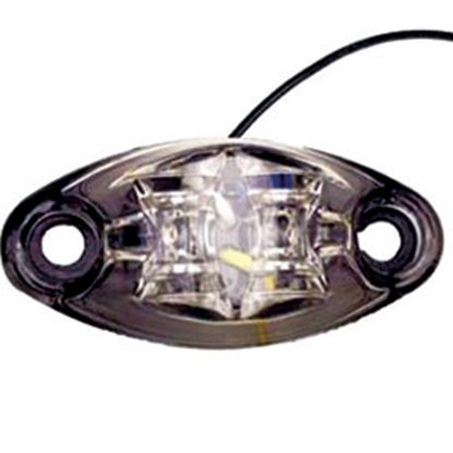 "Picture of Diamond Group  Amber 2-5/8""L x 1-1/4""W x 3/4""D LED Side Marker Light DG52440VP 18-2221"