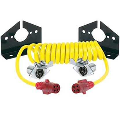 Picture of Hopkins Endurance (TM) 4-Round To 4-Round Trailer Wiring Connector Adapter w/8' Wire 47046 19-1821