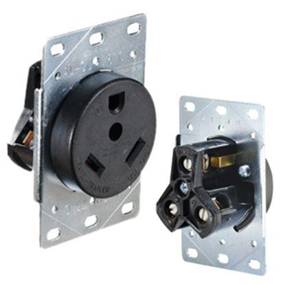 Picture of RV Designer  125V/ 30A Single Flush Mount Receptacle S971 19-2442