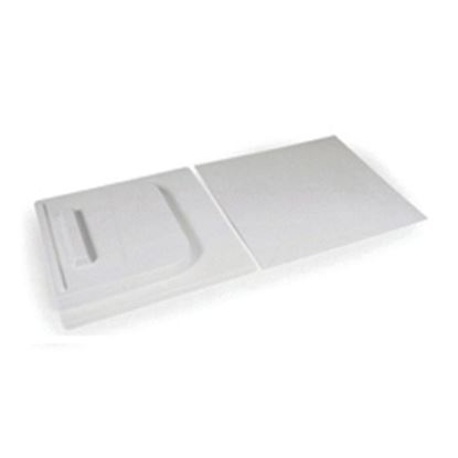 """Picture of Camco  12""""H X 24""""W White Molded Plastic Screen Door Slide 45583 20-0105"""