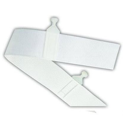 """Picture of JR Products  72""""L White Nylon Window Curtain Glider Tape 81355 20-0667"""