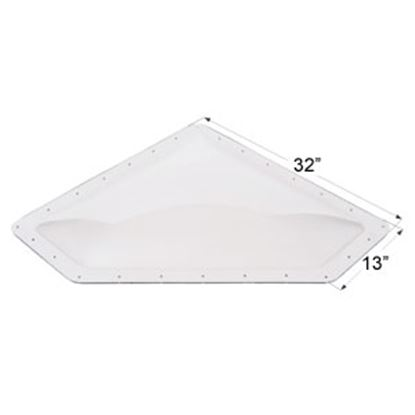 "Picture of Icon  4""H Bubble Dome Neo Angle Clear PC Skylight w/13"" X 32"" Flange 01868 22-0029"