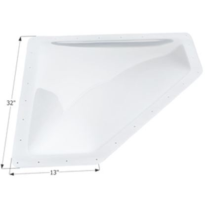 "Picture of Icon  4""H Bubble Dome Neo Angle White PC Skylight w/13"" X 32"" Flange 01869 22-0030"