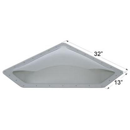 "Picture of Icon  4""H Bubble Dome Neo Angle Smoke PC Skylight w/13"" X 32"" Flange 12112 22-0036"