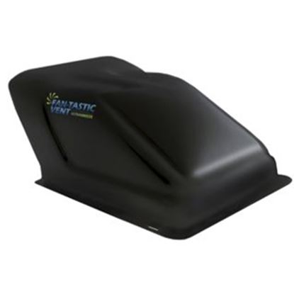 """Picture of Fan-Tastic Vent Ultra Breeze Exterior Dome Type Black Opaque Roof Cover For 14"""" X 14"""" Vents U1500BL 22-0066"""