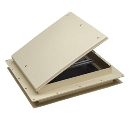 """Picture of Heng's  White 9""""x9"""" Plastic Frame Roof Vent 18511-C1G 22-0233"""