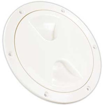 "Picture of JR Products  White 5-3/4""RO Lockable Cord And Fresh Water Compartment Access Door 31025 22-0535"