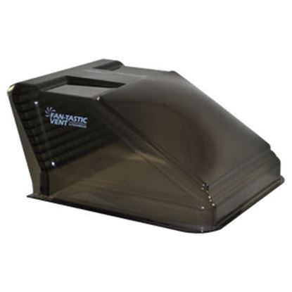 """Picture of Fan-Tastic Vent  Exterior Dome Gray Opaque Roof Cover For 14"""" X 14"""" Vents w/Pack U1500GR 22-2240"""