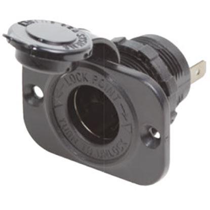 Picture of Blue Sea  12VDC 15A Black Cigarette Lighter Socket 1011 69-0561