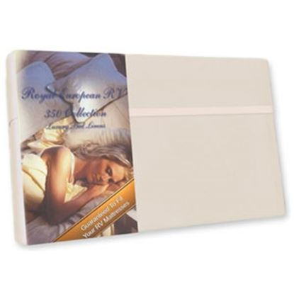 """Picture of Custom Recreation  Champagne Mist 350 TC 49"""" x 75"""" Dinette Bed Sheet RV49X75/CM 69-1177"""