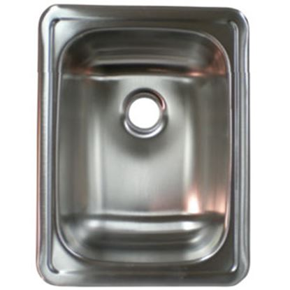 "Picture of Lasalle Bristol  17""L x 13""W x 5""D Rectangular Stainless Steel Sink 13RSM1713LL 69-9242"