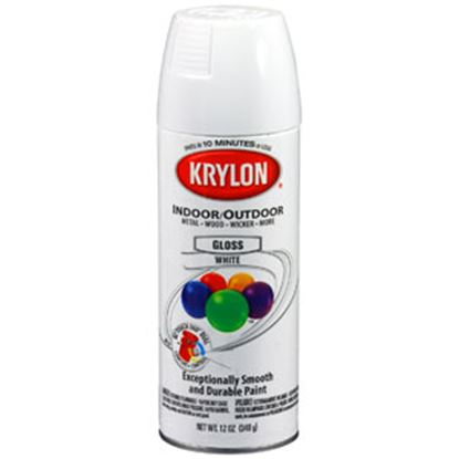 Picture of Krylon  12Oz Gloss White Aerosol Spray Can Paint For Indoor/ Outdoor 51501 69-9770