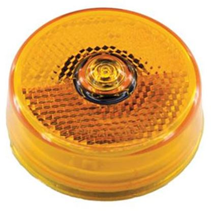 "Picture of Diamond Group  Amber 2-1/2""Dia x 1-1/8""H LED Side Marker Light WP14-0065A 71-2602"