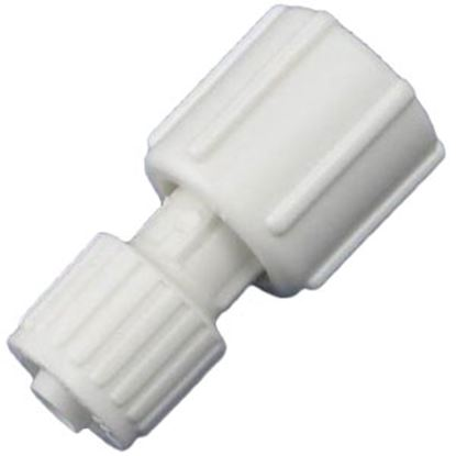 "Picture of Flair-It  3/8"" PEX x 1/2"" FBSP Swivel End Nut White Plastic Fresh Water Straight Fitti 16874 72-0804"