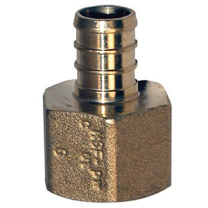 "Picture of BestPEX  1/2"" Hose Barb x 1/2"" FPT Brass Fresh Water Straight Fitting 51128 72-0820"
