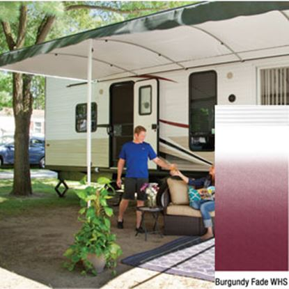 """Picture of Lippert Solera Destination 16'L X 9' 8""""Ext Spring Assist Patio Awning w/White Solera Shield V000334857 90-2163"""