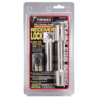 """Picture of Trimax Locks  1/2"""" 7 5/8""""D x 2-5/8""""L SS Trailer Hitch Pin w/Keyed Lock SXTS32 96-0108"""