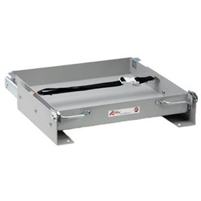 "Picture of Kwikee  15-1/4""L x 22-1/4""W x 3-1/16""H Steel Battery Tray for 1-8 Batteries 366332 98-1060"